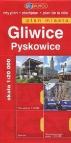 Daunpol praca zbiorowa Gliwice. Pyskowice. Plan miasta w skali 1:20 000