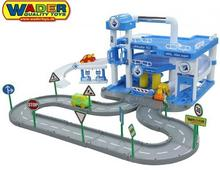 Wader Quality Toys QT ARAL Duży tor garaż parking 3 Poziomy + 3 Auta 40428