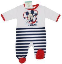 Śpioszki Disney Myszka Mickey dla niemowląt.  Czerwony