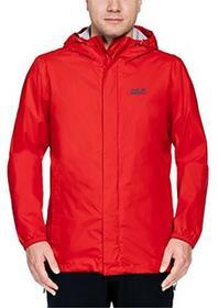 Jack Wolfskin męska kurtka chroniąca przed Cloud Burst Men odporny na warunki atmosferyczne, czerwony, XL 1108901-2681005