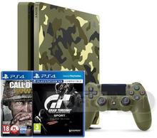Sony PlayStation 4 slim 1TB Czarny + Call of Duty: WWII + Gran Turismo Sport