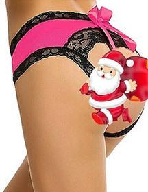 Buauty buauty damskie String, kolor: różowy/czerwony , rozmiar: x-large