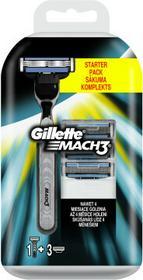Gillette Maszynka do golenia + 3 wymienne wkłady - Mach 3 Maszynka do golenia + 3 wymienne wkłady - Mach 3