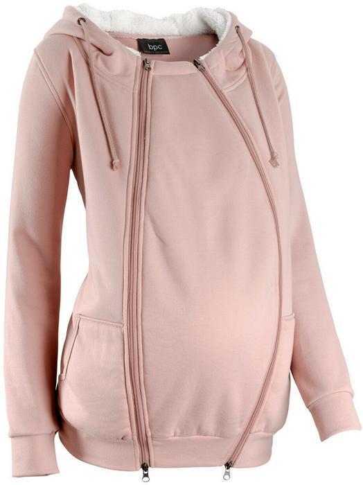0602842114e9e4 Bonprix Bluza rozpinana ciążowa z wstawką niemowlęcą i miękką spodnią  stroną stary jasnoróżowy melanż – ceny, dane techniczne, opinie na  SKAPIEC.pl