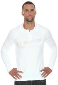 Brubeck T-shirt męska polo długi rękaw Prestige (biały) LS10620-prestige