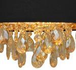 Zuma Line LAMPA wisząca NANCY P17135 abażurowa OPRAWA z kryształkami zwis glamour crystal czarny P17135