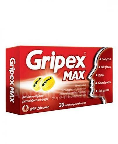 USP Zdrowie Sp. z o.o. USP Zdrowie Sp z o.o GRIPEX MAX 20 tabl 6605535
