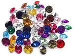 linpeng 10 MM Assorted Colors Faceted Round Acrylic Gems  No. C  approx. 55 PCS/PACK by linpeng Acry