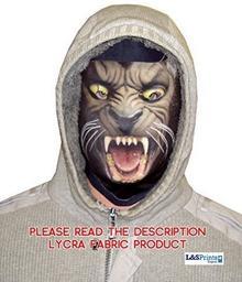 L&S PRINTS FOAM DESIGNS Halloween Wilk Face Novelty Fun materiału Face maska wzornictwo snood maska na twarz wyprodukowane w Yorkshire