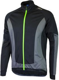 Rogelli UBALDO 2.0 zimowa kurtka rowerowa czarny-szary