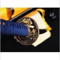 Kuźnia mieczy samurajskich MIECZ SAMURAJSKI WAKIZASHI DO TRENINGU, STAL WYSOKOWĘGLOWA 1095 WARSTWOWANA DAMASCEŃSKA, R735