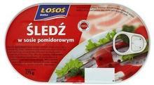 Łosoś Śledź w sosie pomidorowym 175 g Ustka