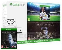 Microsoft Xbox One S 500GB Biały + Śródziemie Cień Wojny + 6M Live Gold + Śródziemie Cień Mordoru + FIFA 18