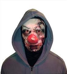 L&S PRINTS FOAM DESIGNS Halloween straszenia Clown, wesołe maska wzornictwo snood facemask wyprodukowane w Yorkshire