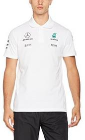 Mercedes AMG Petronas F1 męska koszulka polo Lewis Hamilton, formuły 1, F1, biały, S 141171042-200-S