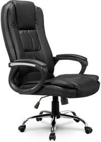 SOFOTEL Fotel biurowy skórzany SOFOTEL EG230, czarny