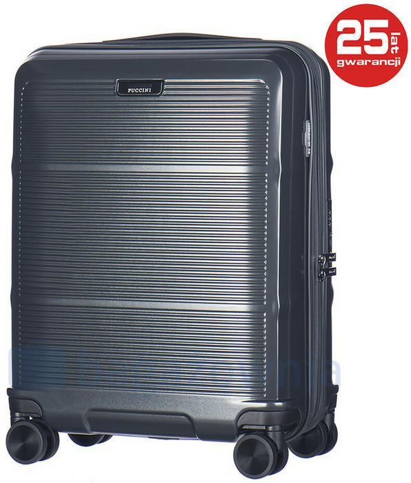 605720c333997 Puccini Mała kabinowa walizka VIENNA PC021C 4A Antracytowa - antracytowy –  ceny, dane techniczne, opinie na SKAPIEC.pl