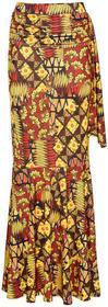 Bonprix Spódnica czerwony wzorzysty