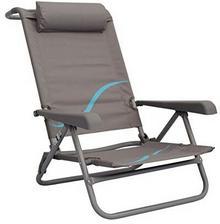 Meerweh Oparcie z regulacją WEH krzesło plażowe z morskiej i głowa tapicerowane krzesło składane krzesło kempingowe krzesło kempingowe, szary, XXL 74060