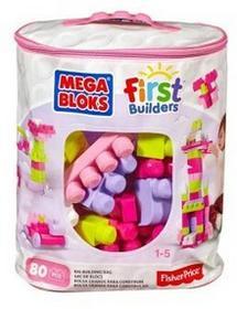 Mega Bloks KLOCKI 80 el. torba różowa CYP72/DCH62