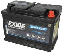 Exide DUAL AGM EP600 - 70Ah 760A P+
