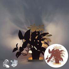 QAZQA Rustykalna lampa stolowa czerwona z bezem - Silhouettes