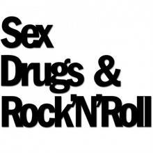 DekoSign Napis na ścianę SEX DRUGS AND ROCKNROLL SDR1-1