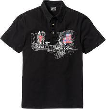 Bonprix Shirt polo Regular Fit czarny
