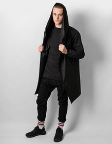 REST FACTORY Płaszcz Hoodie Black Oversize On
