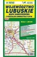 Mapa województwa lubuskiego - Administracyjno-Samochodowa 1:200 000 - Wydawnictwo Kartograficzne