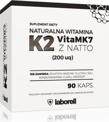 Laborell Witamina K2 Vita Mk7 Z Natto (200Uq) 90 Kapsułek - Suplement Diety Wyprodukowano W Polsce