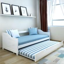 vidaXL Wysuwane łóżko sosnowe/sofa 200x90 cm Białe