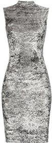 Find damska sukienka na przyjęcie przez urząd ds. pognieciony - m szary B0722ZCSMR