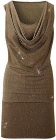 Bonprix Sukienka brązowo-złoty