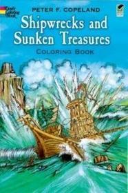 Dover Publications Shipwrecks and Sunken Treasures Coloring Book