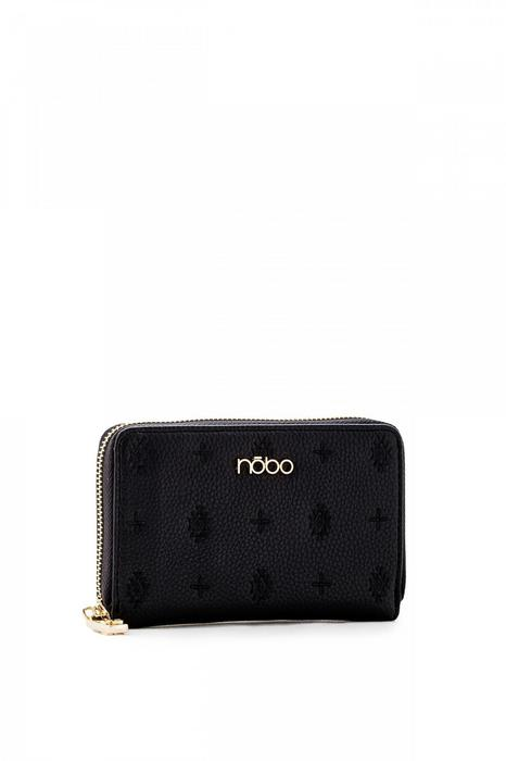 76ae9b9a945ab Nobo Czarny portfel z wytłoczonym wzorem – ceny