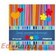 KRESKA Zeszyt papierów kolorowych A4 15k. PREMIUM AA799KRS