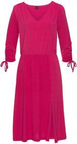Bonprix Sukienka z marszczeniami ciemnoróżowy