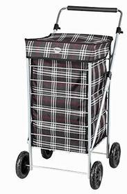 Hoppa hoppa wózek na zakupy, torba, sznurek, 4Kółka, niebieski, 58 cm ST70-Black