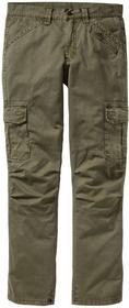 Bonprix Spodnie bojówki Loose Fit Straight zielony khaki