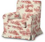 Dekoria Pokrowiec na fotel Ektorp Jennylund ecru tło czerwone paski Fotel Ektorp Jennylund Avinon 613-129-15