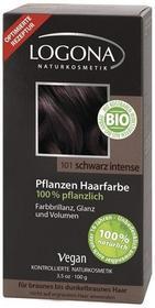 Logona Roślinna farba do włosów w proszku SCHWARZ INTENSE (intensywna czerń) 173 1111