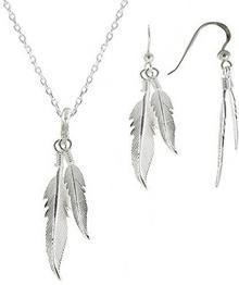 Biżuteria Les Pouletteszestaw sprężyny srebrny łańcuszek 42cm i kolczyki