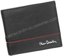 Pierre Cardin Portfel męski skórzany TILAK15 8824 Czarny - czarny || czerwony SAHARA TILAK15 8824 RFID czarny + czerwony-0