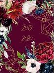 Kalendarz książkowy 2019/2020, kwiaty, bordowy