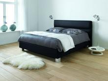 DlaSpania DlaSpania Harmonia - tapicerowane łóżko (skóra naturalna) z pojemnikiem 180x200 cm