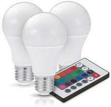Kobi Zestaw żarówek LED E27 GS 7,5W barwa RGB+BIAŁA - 3 SZTUKI KAGSE2775BLI