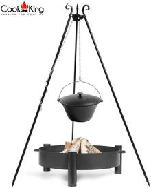 Cook King Kociołek żeliwny na trójnogu 16l + palenisko Haiti 70cm