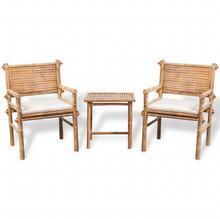 vidaXL Pięcioelementowy zestaw bambusowych mebli ogrodowych