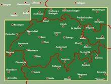 Szwajcaria mapa 1:400 000 Freytag & Berndt - Freytag & Berndt